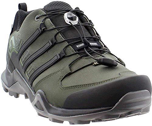 adidas Outdoor Terrex Swift R2 GTX Mens Hiking Boots, (Night Cargo, Black, & Base Green), Size 9.5
