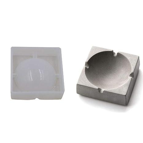 Moldes de Silicona 3D de la Simplicidad Moderna - Molde de Yeso de Perfume de cenicero