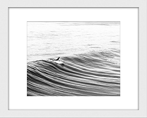Black and white surf art beach decor print beachfront decor