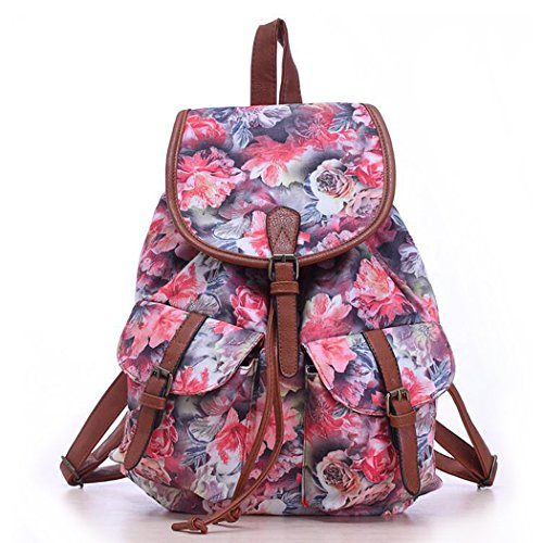 Floral Printed School Backpack