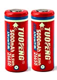 26650 Battery Real 5000 mAh Lithium ion Battery Pack 3.7 volt Rechargeable Battery for high power flashlights