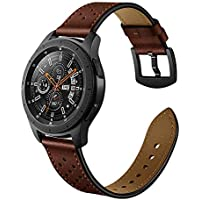 22mm Watch Band, 20mm Watch Band, OXWALLEN Watch Band Leather Quick Release Soft Watch Strap Brown/Black/Grey/Coffee (20mm, 20mm-Coffee)