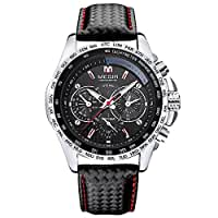 Men Wrist Watches - MEGIR Fashion Men Business Casual Quartz Wrist Watches Black