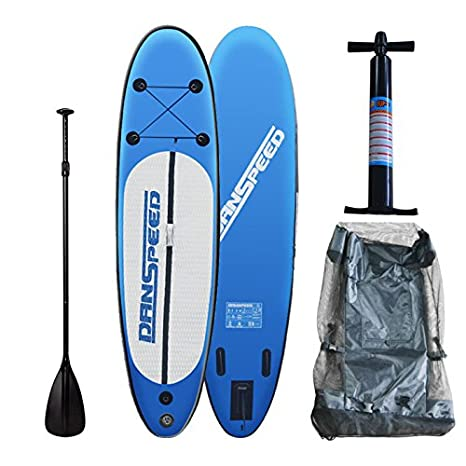 SolarNovo Tabla de Paddle Surf Board Inflable, Set Aqua de Tabla de Sup Hinchable de 305 x 75 x 15cm, con Inflador, Kit de Reparación, hasta 140 Kg
