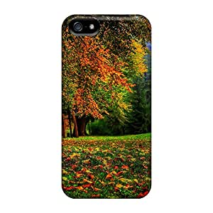Top Quality Rugged Autumn Leaves Trees Case Cover For Iphone 5/5s