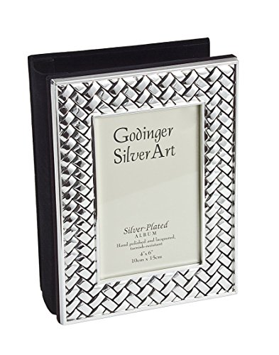 Philip Whitney Weave Collection 4x6 Silver Plated Photo Album