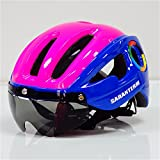 Cheap Mens Mountain Bike Cycling Helmet with Colors Lens Visor Ultralight Integrally-Molded Bicycle Helmet