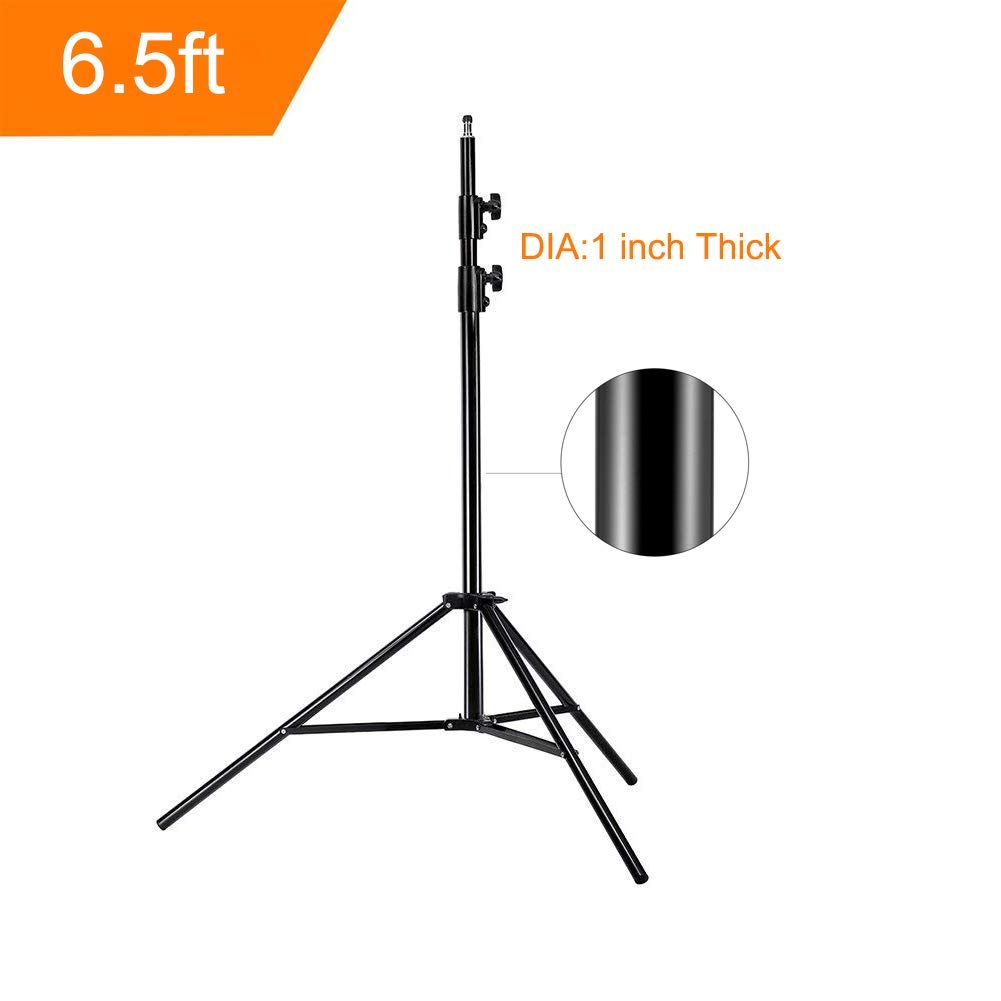 Update 78inch/6.5 Ft/200CM Photography Tripod Light Stands for Photo Studio Relfectors Softboxes Lights Umbrellas Backgrounds Video Lighting Studio Monolight Studio Kits Aluminum Alloy(6.5ft X1)