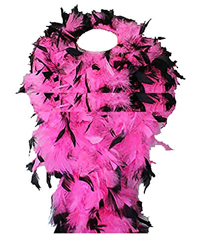 Cynthia's Feathers 80g Chandelle Feather Boa (Hot Pink/Black tips) -