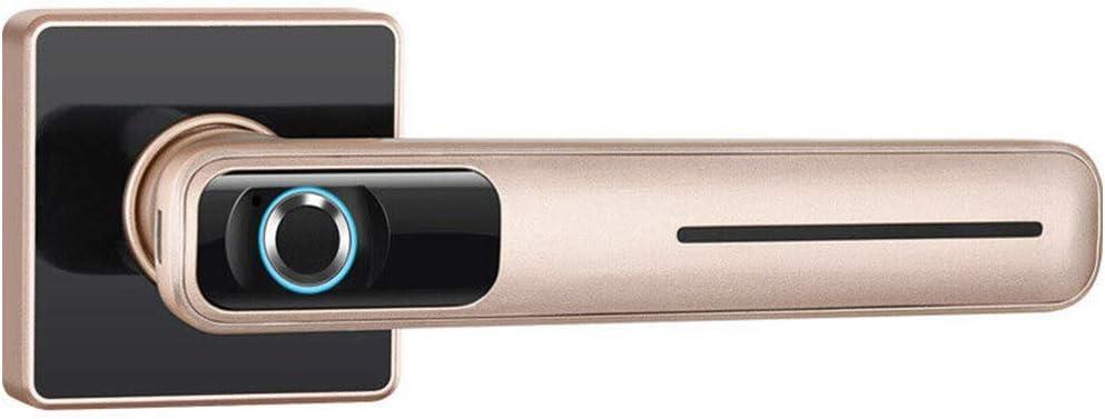 Fingerprint Door Lock, Electronic Door Lock Intelligent Dome Anti-Theft Security System Knob,Stainless Steel Home Security Door Lock with 2 keys, USB Charging