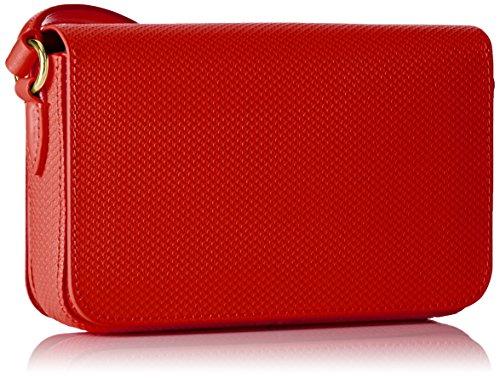 Lacoste NF1861CE, Bolso Bandolera para Mujer, 13 x 5 x 20 cm RED DE ALTO RIESGO (High Risk Red)