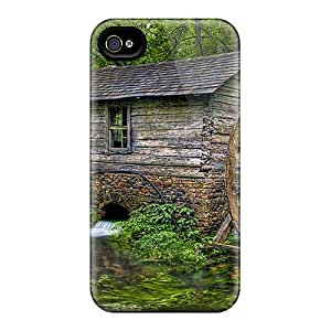 Slim Fit Tpu Protector Shock Absorbent Bumper Little Mill In The Forest Case For Iphone 4/4s