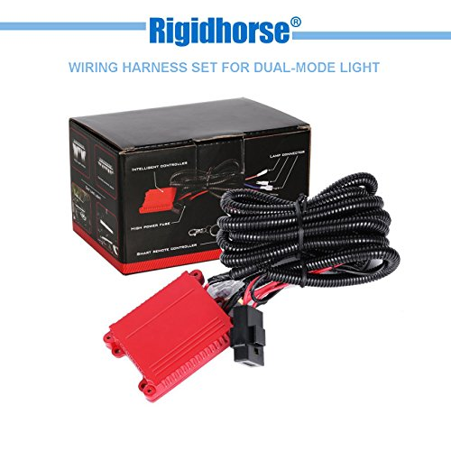 Wiring Harness Rigidhorse Remote Control Wiring Harness Kit For 8D Dual-Mode LED Light Bar Universal Fitment Light Bar Accessories (Dual Switch Wiring)