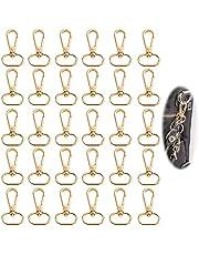 Metalen karabijnhaak met D ring 30 stuks D ring sleutelhanger 25 mm karabijnhaak Draaibare karabijnhaak Zinklegering Tas Gesp Met D ringen en sleutelhangers voor DIY Sleutelhanger Tas Sieraden Maken