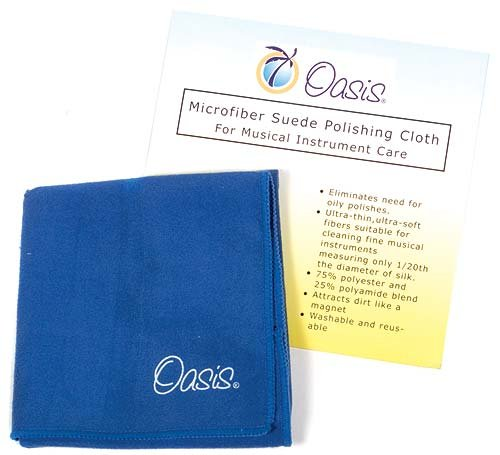 Oasis Microfiber Suede Polishing Cloth for Musical Instrument Care