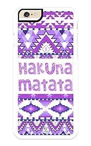 iZERCASE iPhone 6 PLUS Case Hakuna Matata Purple Aztec Pattern RUBBER CASE - Fits iPhone 6 PLUS T-Mobile, Verizon, AT&T, Sprint and International