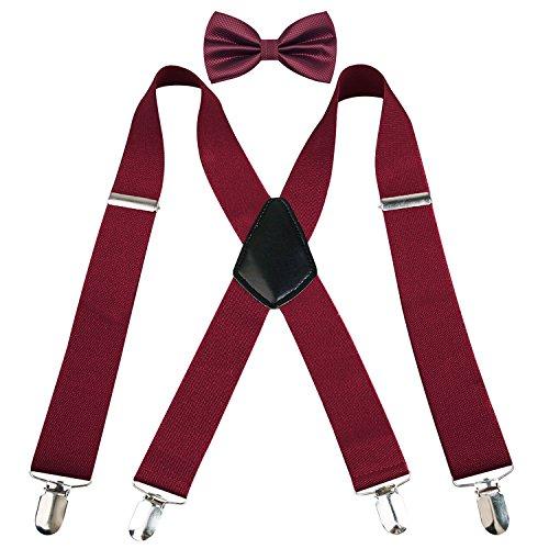Alizeal Mens 1 37 Suspender Pre tied