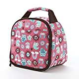 Fit & Fresh Kids' Gabby Insulated Lunch Bag with Exterior Pocket and Full Zip Closure, Versatile School Lunch Box for Girls, Rainbow Owl