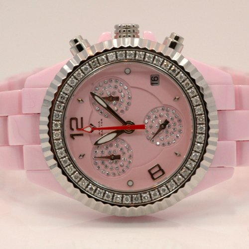 Aqua Master Ladies Ceramic Diamond Watch 1.25ctw W115 by Aqua Master