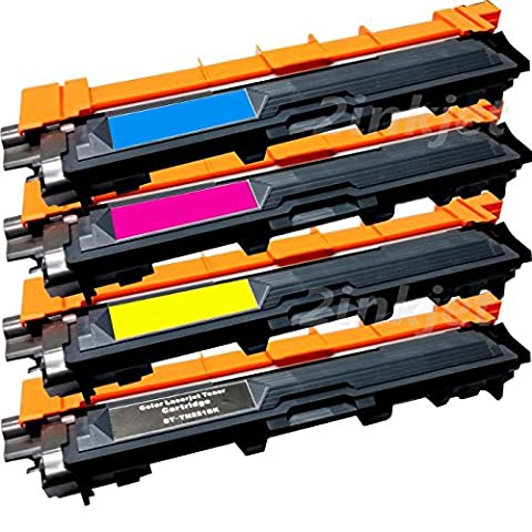 GLB © Compatible With Brother TN221 TN225 Premium Compatible High Yield Toner Cartridge Set (Black , Cyan , Magenta ,Yellow)Compatible With Brother HL-3140, HL-3140CW, HL-3170, HL-3170CDW, MFC-9130, MFC-9130CW, MFC-9330, MFC-9330-CDW, MFC-9340, (Brother Mfc 9340 Cdw Ink)