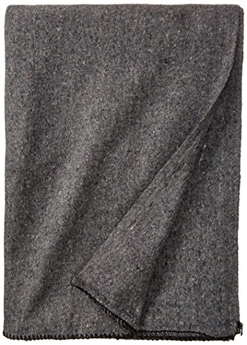 Stansport Wool Blanket, Gray, 60 x 80-Inch