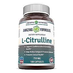 Amazing Formulas L-Citrulline Dietary Supplement - 750mg - 180 Capsules