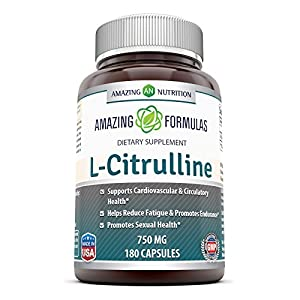 Amazing Nutrition L Citrulline Dietary Supplement 750mg 180 Capsules Promotes Healthy Circulation and Cardiovascular Health Supports Sexual Well Being Enhances Endurance