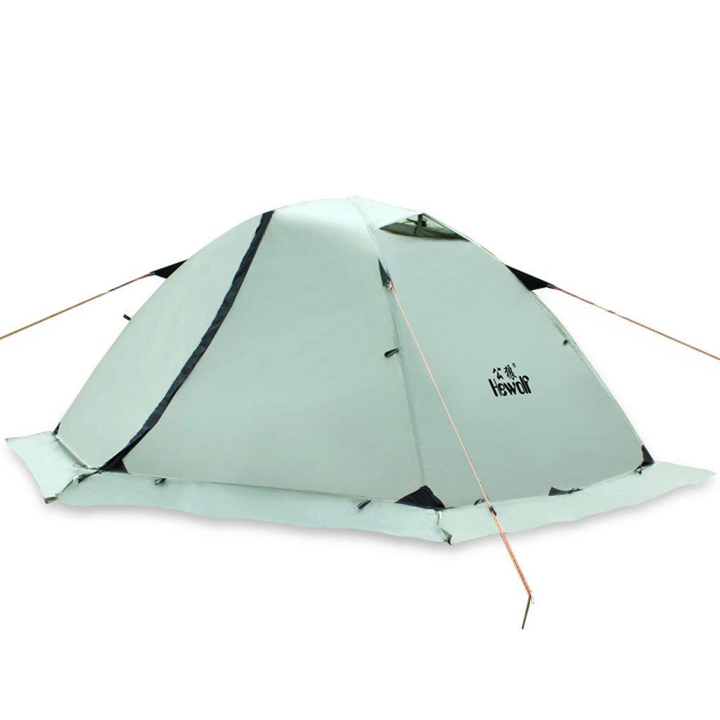 Doppelstock Outdoor-Zelt Camping Jahreszeiten Multiplayer-Ultraleicht-Dome Zelt Strandzelt 3-4 Personen