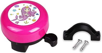 Mini-Factory - Timbre de Bicicleta para niña, diseño de Sirena, Color Rosa: Amazon.es: Electrónica