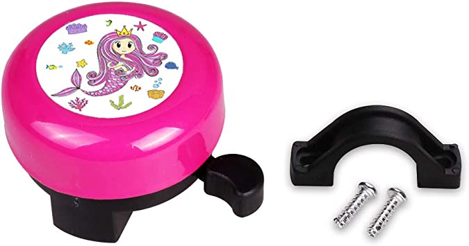 3D Unicorn Mini-Factory Bike Bell for Kid Girls Bicycle Handlebar Cute Pink Unicorn Pattern Childrens Bike Safe Cycling Ring Horn