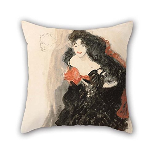 beeyoo Oil Painting Gustav Klimt - Study for Judith II Pillow Covers 16 X 16 inches / 40 by 40 cm Best Choice for Bf Kids Room Girls Girls Play (Needlepoint Chair Pad)