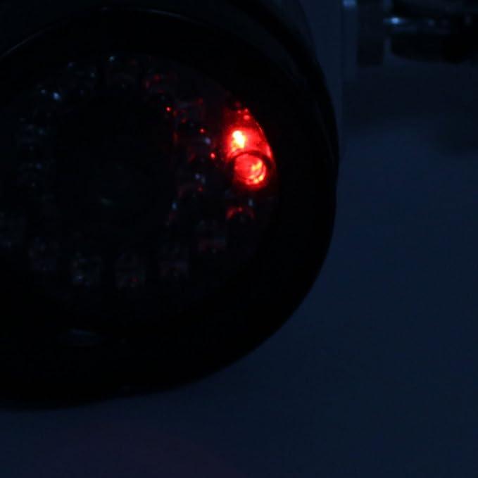 eDealMax falso cámara de vigilancia de seguridad simuladas IR CCTV & Light Grabar con hierro Párese - - Amazon.com