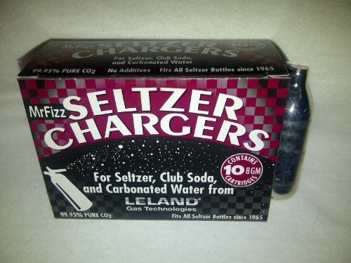 50 Leland (LE10 CO2) CO2 soda chargers - 8g C02 seltzer water cartridges - 5 boxes of 10 by Leland (Image #1)