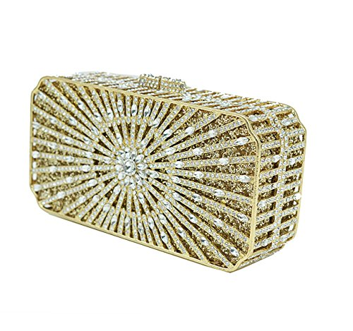 FZHLY Europa Y Estados Unidos Luxury Crystal Bag Full Rhinestones Clutch