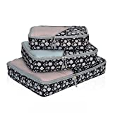 Hynes Eagle Travel Packing Cubes 3 Pieces Value Set White Flower
