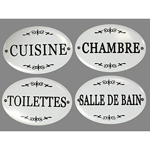 chemin/_de/_campagne Plaque de Porte en Fer Style Emaill/é Cuisine
