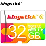 Kingstick 64GB Micro SDXC Class 10 Flash Memory SD Card with Adapter for Android Smartphone Tablet C