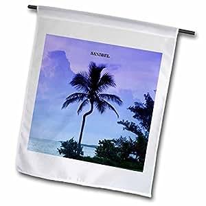 Florene Tropic Sunset - Sanibel Island Palm - 12 x 18 inch Garden Flag (fl_62203_1)