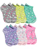 Puma - Girl's SuperLite Low Cut Socks - Pack of 6 Pairs (Heart/Pastel Assorted)