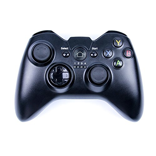 IREALIST Universal 2.4G Wireless Game Controller with Vibration Feedback, PC Game Controller with USB Cable for Windows XP/7/8/8.1/10 Android, Smart TV, PS3