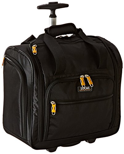 "LUCAS 16"" Wheeled Underseat Cabin Bag (16inch, Black)"