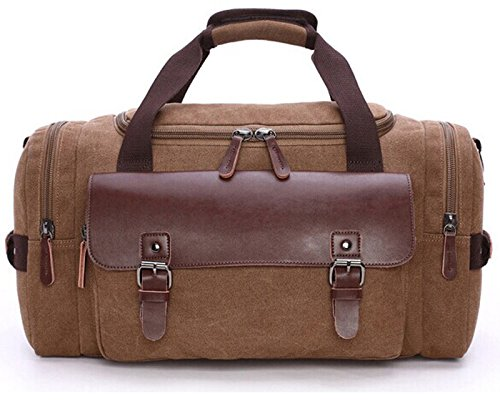 Duffle Bag Travel Bag Canvas Weekend Bag Super Capacity Gym Bag for trip,gym,work