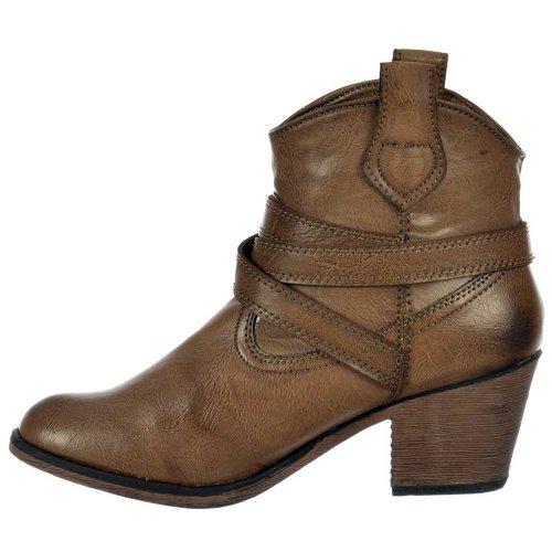Satire centrale Boots Slick Rocket Western Cowboy de Taupe Taupe Slick dames Dog unité 5wUUqZO