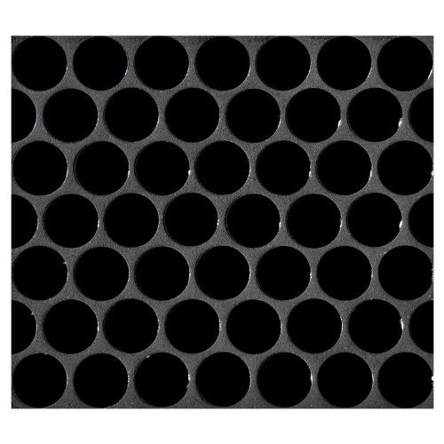 - Vogue Penny Round Tile Black Porcelain Mosaic Shiny Look Designed in Italy (Box of 5 sq. ft.)
