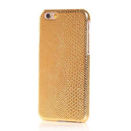 "Apple iPhone 6 4.7"" Hard Case Lizard Skin Eidechse Muster Design Gold"