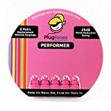 Plugfones Silicone Replacement Ear Plugs - 5 Pairs (Pink)