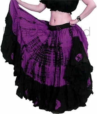 Falda teñida Tie Dye, 23 m, tribal, gitana, danza del vientre, de ...