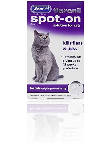 PET-119104Desparasitante para gatos Johnsons Fipronil Spot On Cat ...