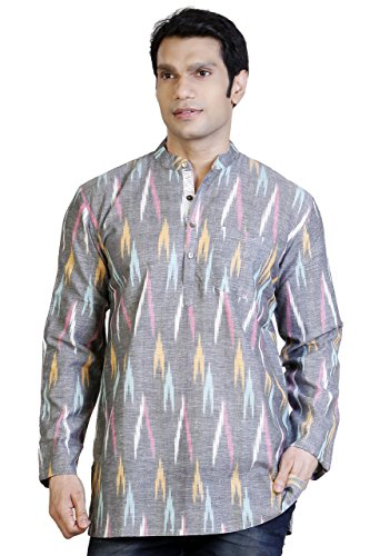 Apparel Men's Round Neck Cotton Short Kurta Large ()
