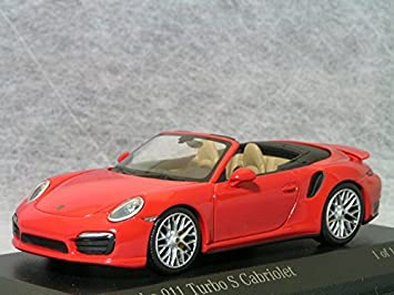 Minichamps 1/43 Porsche 911 (991) Turbo S Cabriolet/Red Porsche